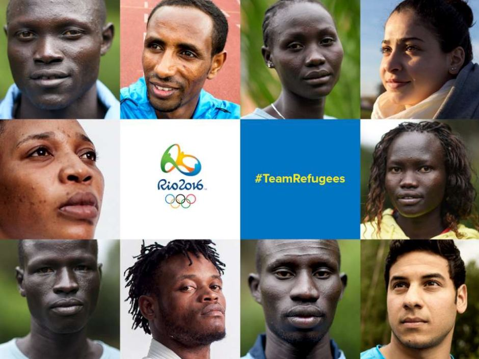 [The refugee team comprises competitors from Kenya, Syria, Ethiopia, South Sudan and DRC. (Supplied: UNHCR)]